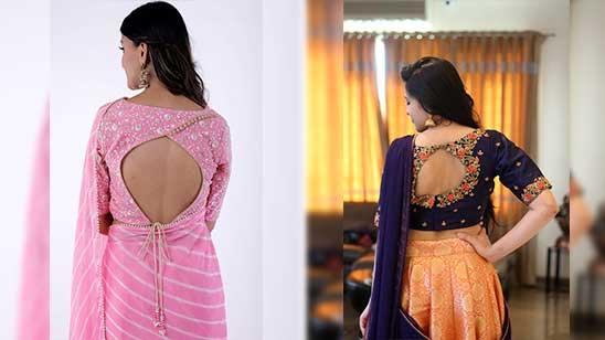 Fancy Blouse Designs Back Side