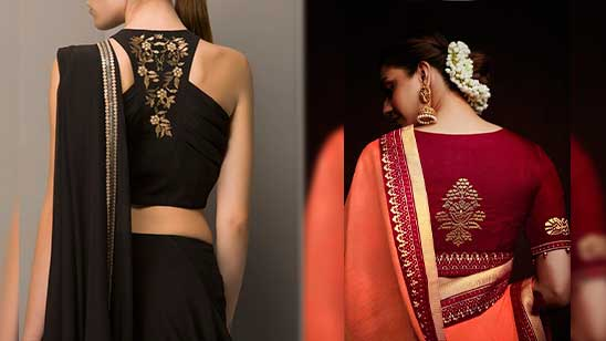 Hand Embroidery Designs for Blouse Back Neck