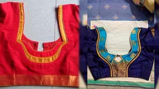 Kathpadar Blouse Back Neck Design