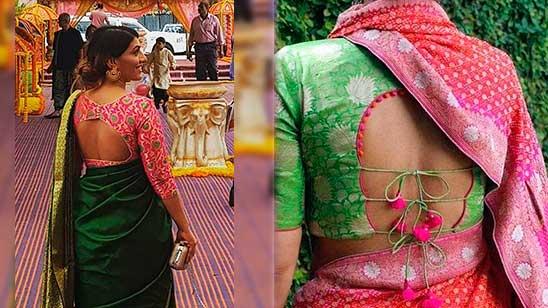 Kathpadar Blouse Design Back Side