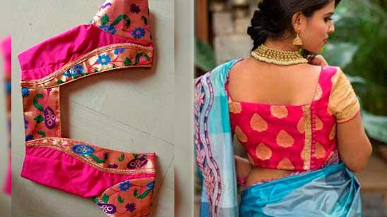 Kathpadar Blouse Design Back