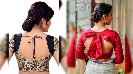 Open Back Blouse Designs