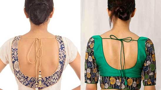 Paithani Blouse Back Neck Design