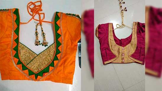 Paithani Blouse Back Side Design