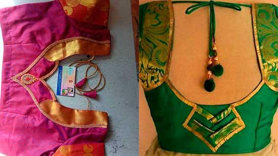 Paithani Blouse Neck Design