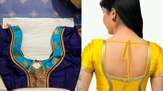 Silk Blouse Back Design