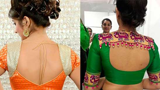 Silk Saree Blouse Back Designs