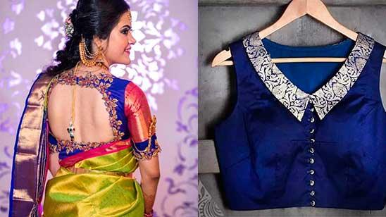 Silk Saree Blouse Design Back Neck