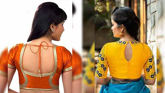 Simple Blouse Back Designs