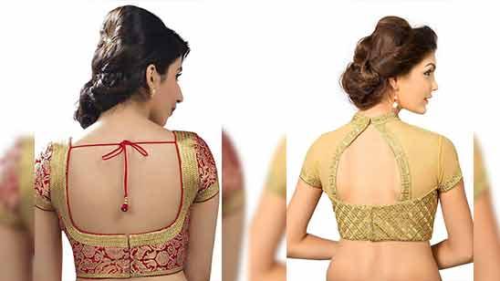 Simple Blouse Back Neck Designs