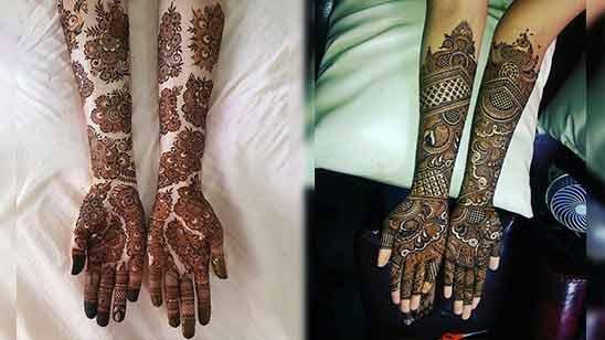 Arabic Bridal Mehndi Design for Full Hand