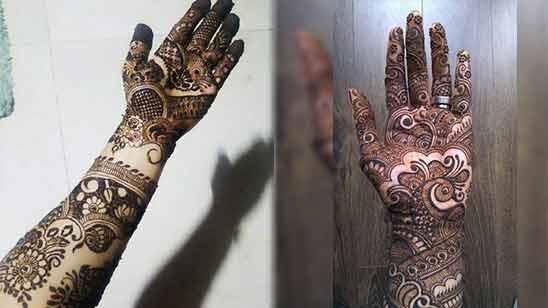 Arabic Left Hand Mehndi Design
