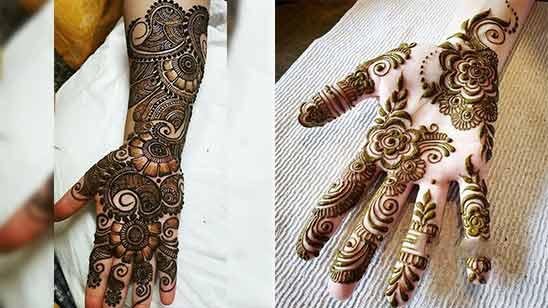 Arabic Mehandi Design Hand Image