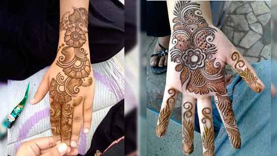 Arabic Mehandi Design Simple