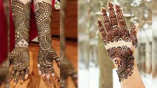 Arabic Mehandi Design for Full Hand Image