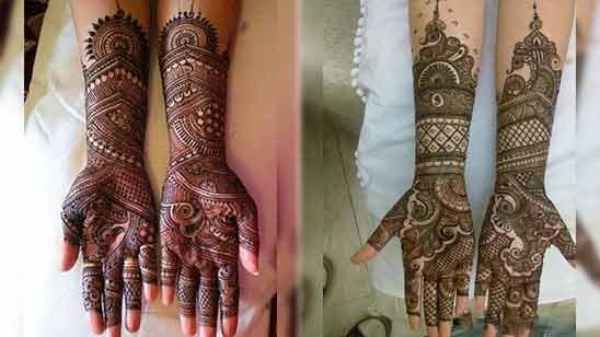 Arabic Mehandi Design for Full Hand