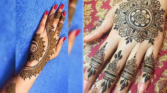 Arabic Mehandi Design for Left Hand