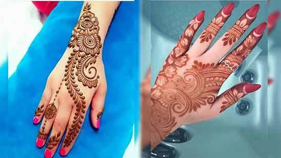 Arabic Mehendi Design for Back Hand