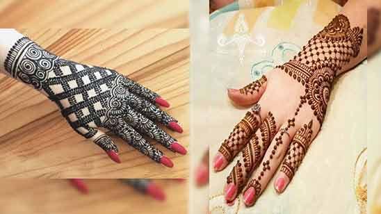 Arabic Mehendi Design for Back Side of Hand