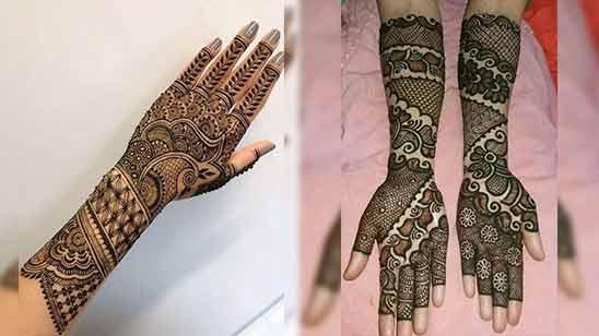 Arabic Mehendi Design for Full Hand Image