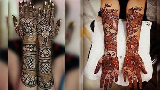 Arabic Mehendi Design for Full Hand