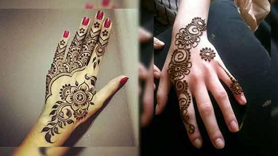 Arabic Mehendi Design for Left Hand