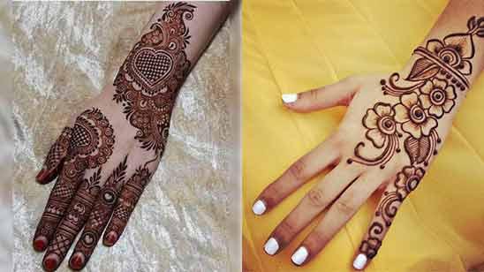 Arabic Mehendi Design of Back Hand