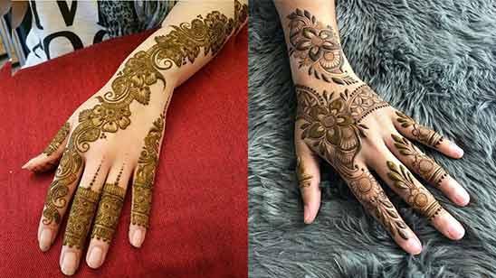 Arabic Mehndi Design Back Hand