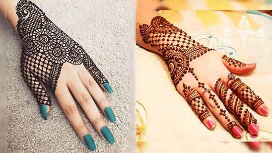Arabic Mehndi Design for Back Hand