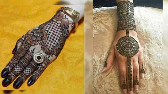 Arabic Mehndi Design for Back Side of Hand