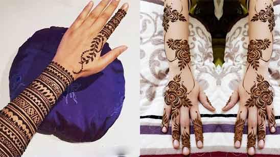 Arabic Mehndi Design for Front Hand