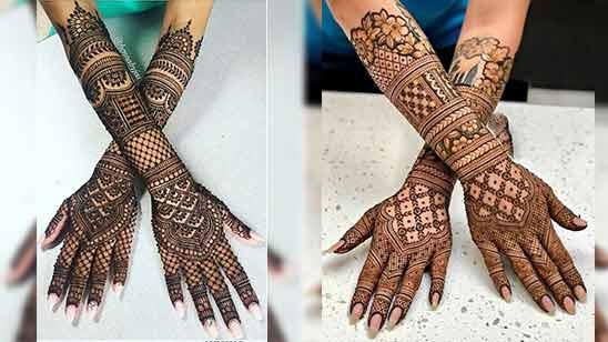 Arabic Mehndi Design for Full Hand Image
