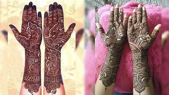 Arabic Mehndi Design for Full Hand