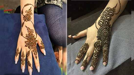 Arabic Mehndi Design for Hand Image