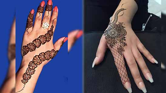 Arabic Mehndi Design for Left Hand