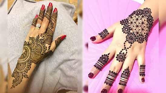 Arabic Mehndi Design of Back Hand