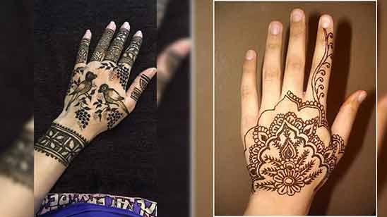 Arabic Mehndi Design of Left Hand