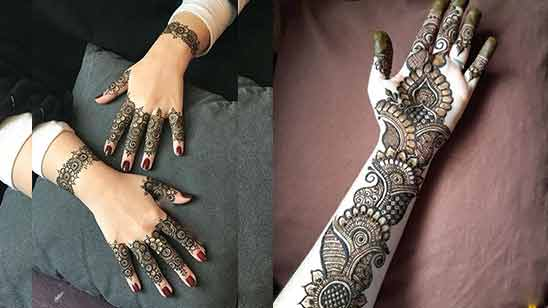 Arabic Style Mehendi Design Image