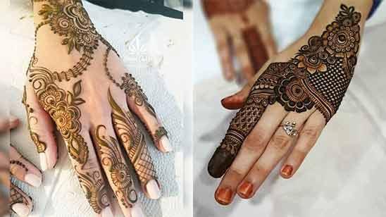 Arabic Style Mehendi Design