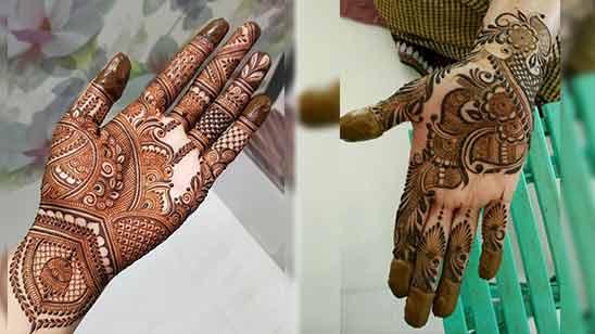 Arabic Style Mehndi Design
