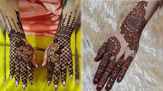 Back Hand Arabic Mehendi Design
