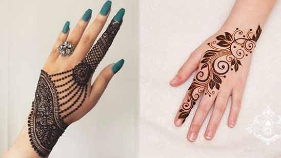 Back Hand Arabic Mehendi