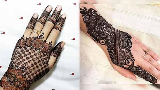 Back Side Arabic Mehendi Design