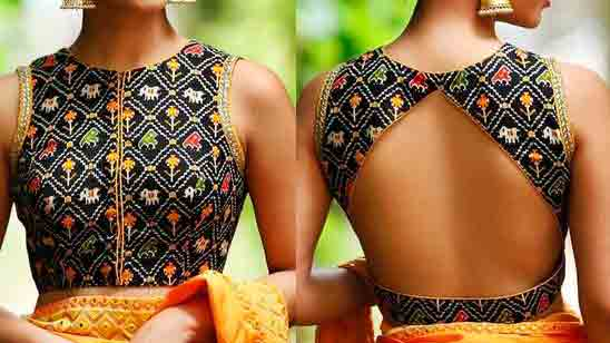 Blouse Boat Neck Design Back