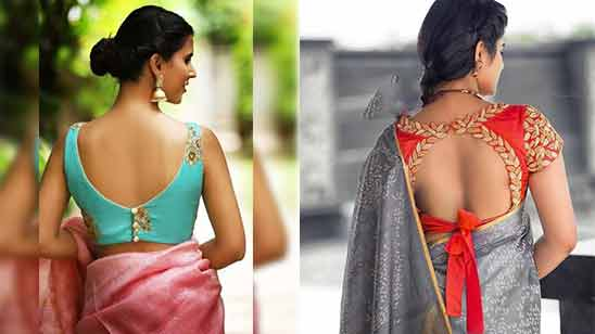 Blouse Boat Neck Design for Saree Image