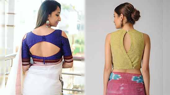 Blouse Boat Neck Saree Design