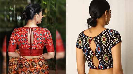 Boat Neck Latest Blouse Design