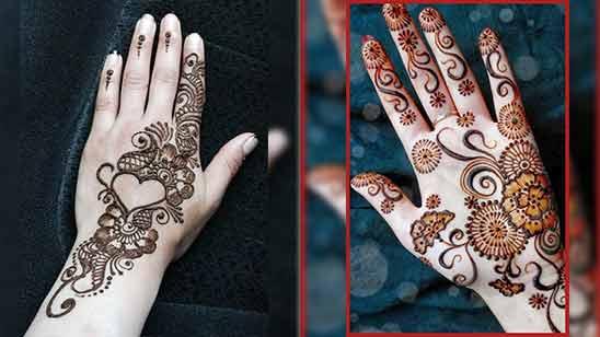Easy Arabic Mehendi Design for Left Hand
