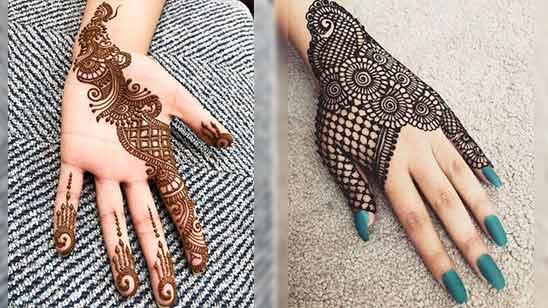 Easy Arabic Mehndi Design for Left Hand Back Side