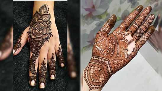 Easy Arabic Mehndi Design for Left Hand Palm